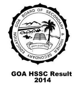 goa board hssc result 2014