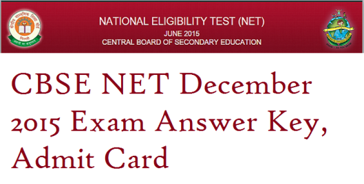 cbse net answer key 2015